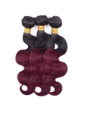 Dark Root Burgendy (1b/99J) Body Wave Bundle Deals
