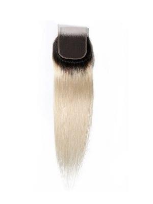 2-Tone 1b/613 Blonde Straight Closure