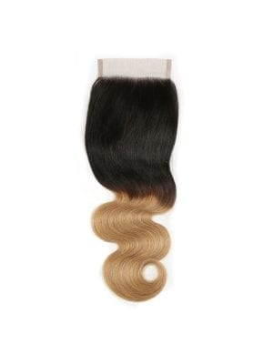 Ombre Honey Blonde Body Wave  4*4 Closure (1b/27)