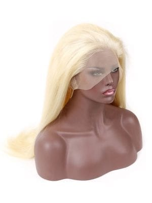 Transparent Lace Straight Russian Blonde Wig (613)