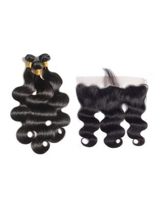 Brazilian Body Wave (10A) Bundles + Frontal