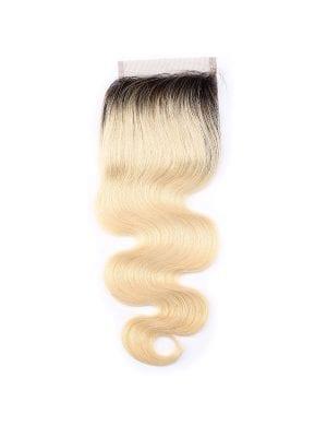 2-Tone 1b/613 Blonde Body Wave Closure