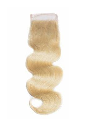 Russian Blonde Body Wave 4*4 Closure