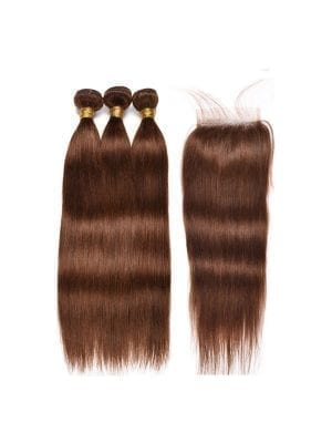 Chocolate Brown Bundles+Closure Deals(7 TEXTURES AVAILABLE)