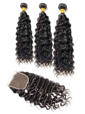 Brazilian Deep Wave (10A) Bundles + Closure