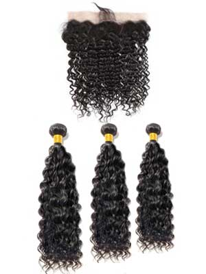 Brazilian Deep Wave (10A) Bundles + Frontal