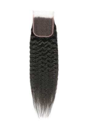 4*4 Lace Closure Kinky Straight