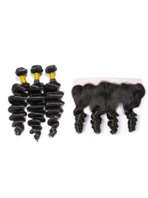 Brazilian Loose Wave (10A) Bundles + Frontal