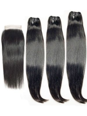 SEA Double-Drawn Straight (11A) Bundles + Closure