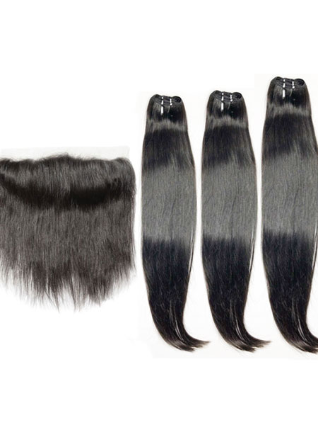 straight raw hair bundle deals with closure