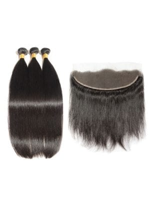 Brazilian Straight (10A) Bundles + Frontal