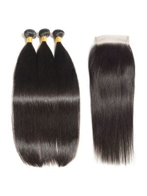 Brazilian Straight (10A) Bundles + Closure