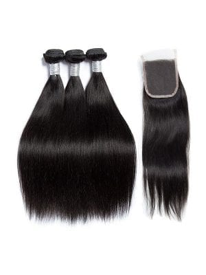 Malaysian Straight (9A) Bundles+Closure