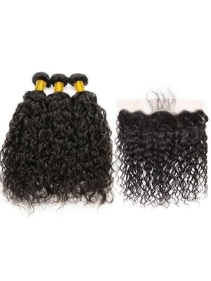 Brazilian Water Wave (10A) Bundles + Frontal