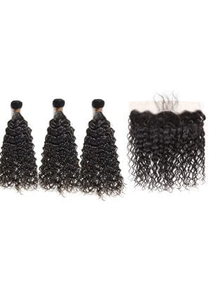 Vietnamese Remy Water Wave (8A) Bundles + Frontal