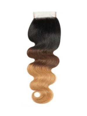 3-Tone Ombre Body Wave Closure