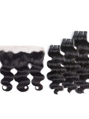 SEA Double-Drawn Body Wave (11A) Bundles + Frontal