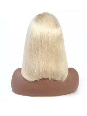 Transparent Lace Blonde Straight Bob Wig (613)