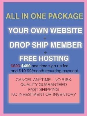 Website+Free Hosting+Drop Ship Membership