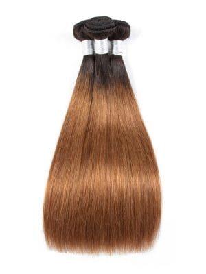 Ombre Golden Brown Sleek Straight Bundle Deals (1b/30)