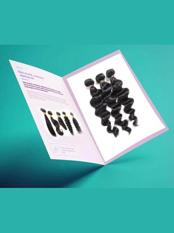 hair business brochure