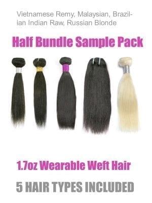 Wearable Samples(5 Hair Types/Half Bundle)