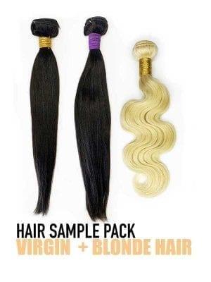 Virgin+Blonde Hair Sample Pack