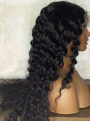 Transparent Lace 4×4 Closure Wig Brazilian Deep Wave