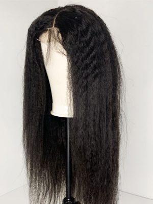 Transparent Lace 4×4 Closure Wig Brazilian Kinky Straight